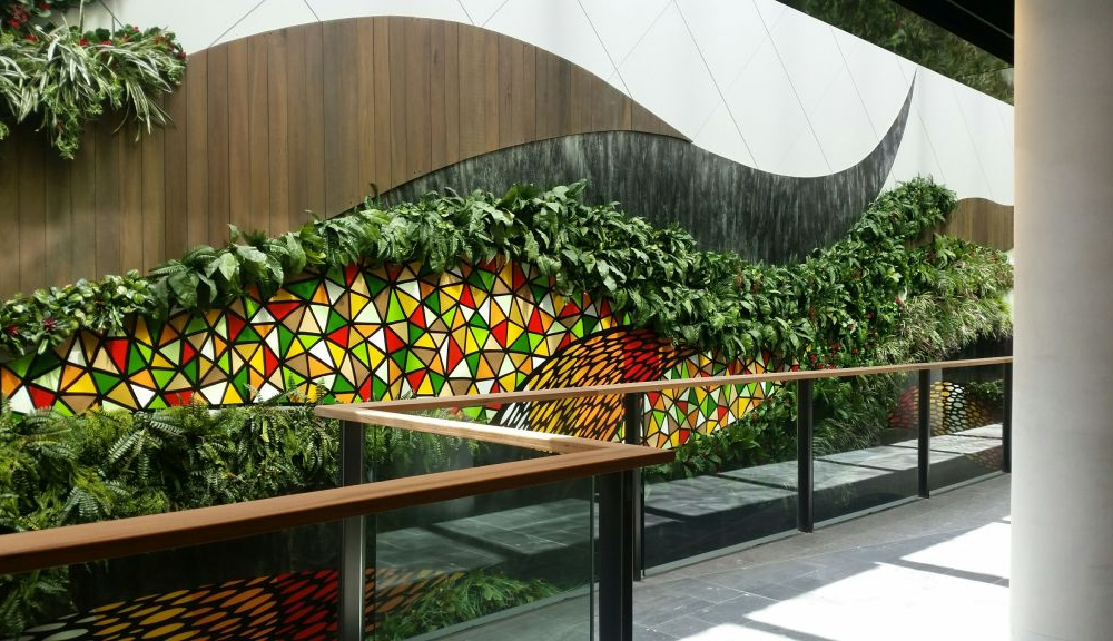 1 Vertical wall gardens hand made at Chatswood Westfield